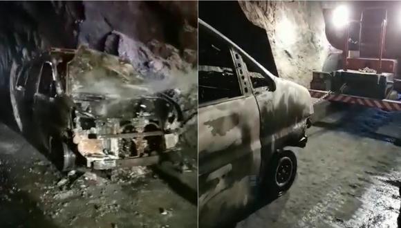 Auto quemado tras incendio en Ica. | Foto: CORREO
