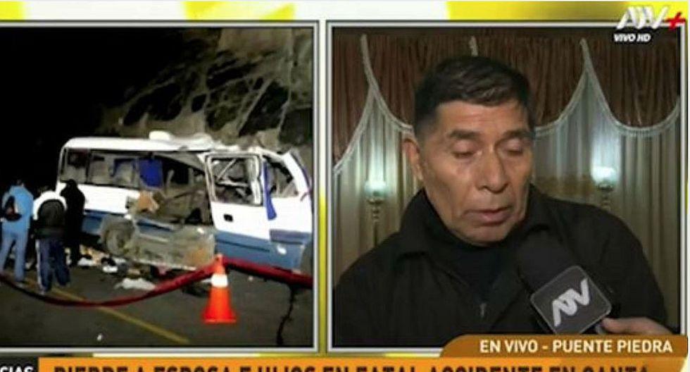 Hombre perdió a su esposa y a sus tres hijos en accidente en Canta (VIDEO)