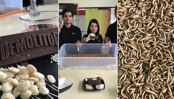 Peruanos crean barra energética que emplea insectos como su principal ingrediente