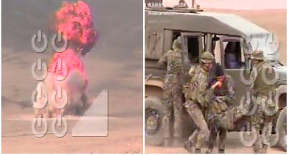 San Bartolo: seis soldados heridos tras explosión en entrenamiento militar (VIDEO)