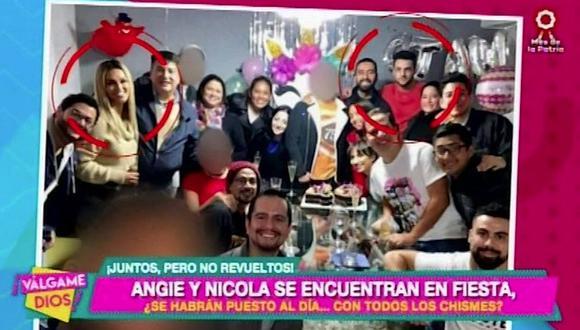 Angie Arizaga y Nicola Porcella se reencontraron en casa de un amigo en común (VIDEO)