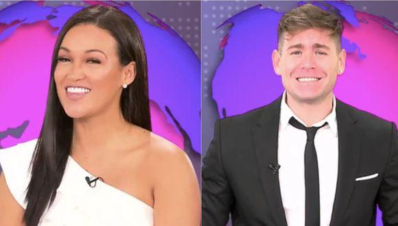 Angie Arizaga y Pancho Rodríguez en noticiero de 'Esto es guerra'. | Foto: América Televisión