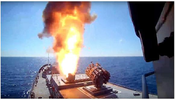Rusia disparó misiles de crucero contra el Estado Islámico en Siria (VIDEO)