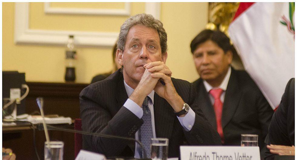 Comisión de Fiscalización cita para este viernes a ministro Alfredo Thorne