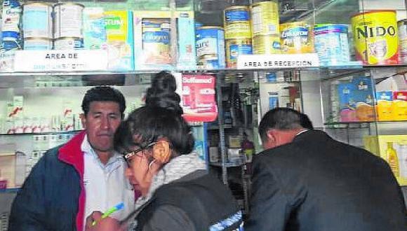Puno: farmacias son atendidas por gente no profesional
