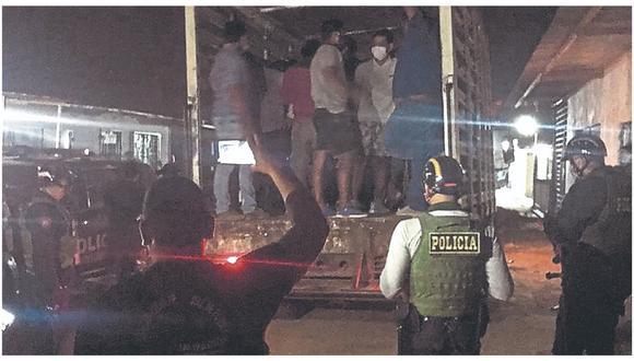 Se encontraban libando licor en un local clandestino del asentamiento humano Las Lomas.