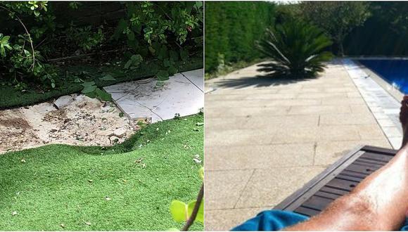 Joven tomaba el sol cuando un cadáver cayó en su patio desde el cielo (FOTOS)