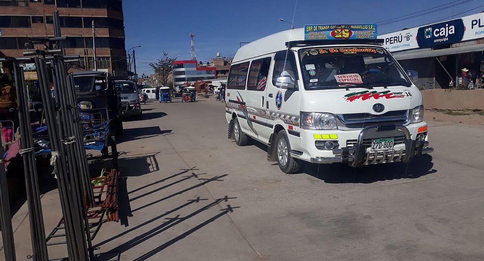 Transporte se reanuda con nuevo precio y otras rutas en Juliaca