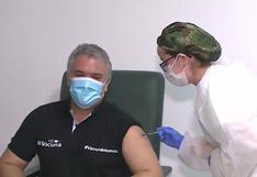 Iván Duque recibe la primera dosis de la vacuna contra la COVID-19