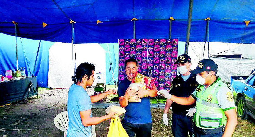 16 personas que integran circo están varados en Chanchamayo