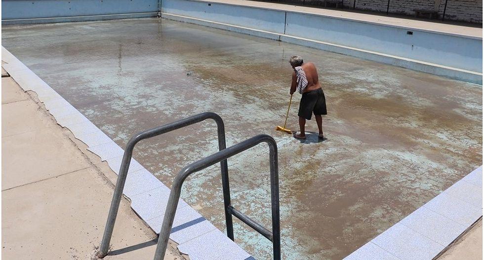 Inician recuperación de la piscina del Club de Pueblo de Florencia de Mora