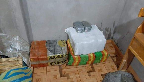 Puno: la droga fue hallada en el tercer piso del inmueble intervenido por la Policía y la Fiscalía.