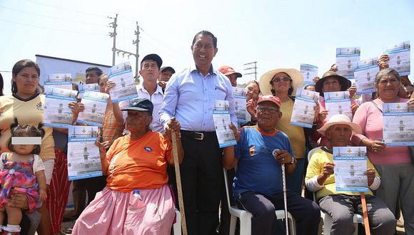 Callao: Entregan más de 1,700 constancias de posesión a pobladores de Pachacútec (FOTOS)