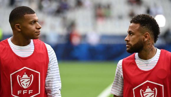 PSG negocia las renovaciones con Neymar y Kylian Mbappé. (Foto: AFP)