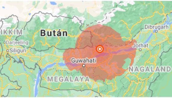 Terremoto de magnitud 6 se registró en el noroeste de la India.