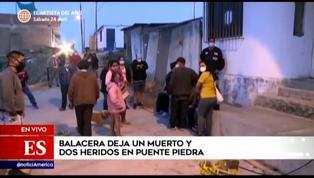Puente Piedra: balacera deja un muerto y dos heridos durante una pollada