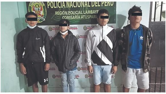 Son acusados de asaltar y robar a un transeúnte en el distrito de José Leonardo Ortiz, a quien lo despojaron de su moderno teléfono celular.