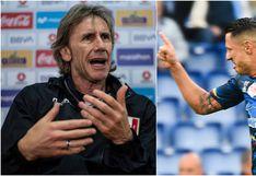 Ricardo Gareca y lo que dijo sobre posible convocatoria de Gianluca Lapadula