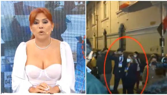Magaly Medina critica a periodista que agredió a manifestante en plena calle. (Fotos: ATV)