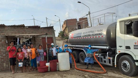 La segunda etapa del Plan Cisterna para llevar agua potable a las familias vulnerables, iniciará a principios de mayo hasta finales de diciembre del 2021 (Foto: Otass)