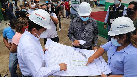 Reconstruirán pistas y veredas en el centro de La Esperanza