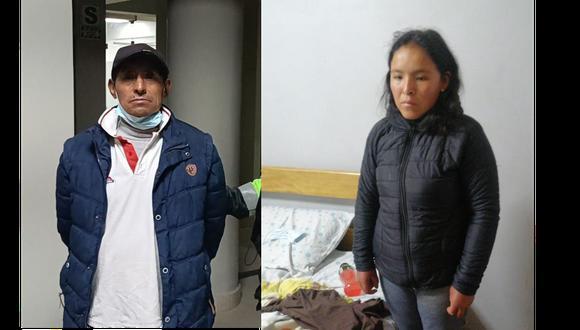 El expresidiario Pacco Montes Urbano admitió su delito en Huancavelica mientras Elsa Salvatierra Contreras, madre del niño, fue capturada en Santa Anita y confesó su crimen. (Foto: PNP)