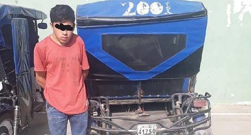 Menor que fue denunciado por su padre tras hurtar una mototaxi es internado en centro correccional