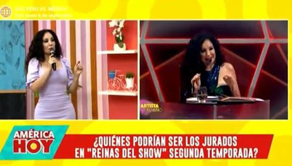Melissa Paredes interviene en discusión entre Janet Barboza y Christian Domínguez. (Foto: captura de video)