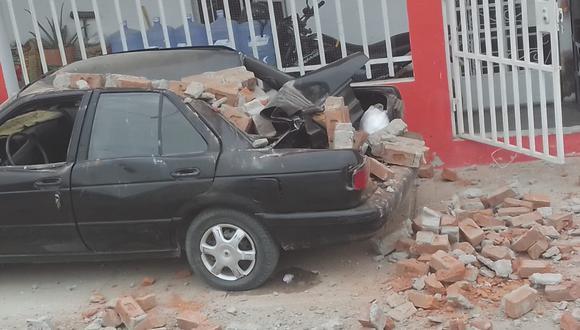 Sismo en Piura: así quedó un auto tras fuerte temblor (FOTOS)