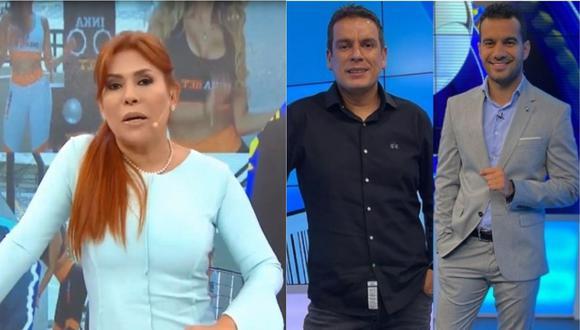 Magaly Medina cuestionó los comentarios de ambos periodistas deportivos. | Foto: Composición.