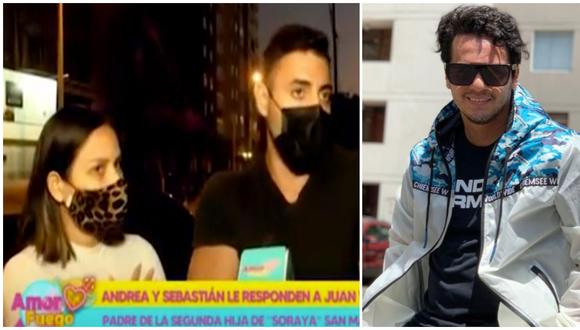 Juan Víctor habría enviado indirecta a Andrea San Martín y Sebastián Lizarzaburu. (Fotos: Willax TV / Instagram)