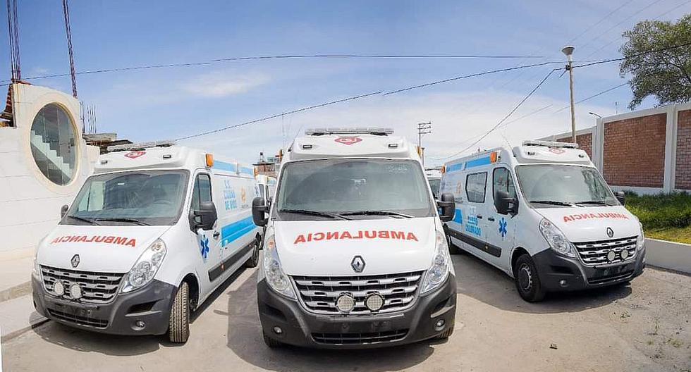 Ambulancias adquiridas por el Gobierno Regional de Arequipa circulan sin documentos