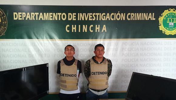 """Policía captura a banda """"Los retacos"""" de Chincha"""