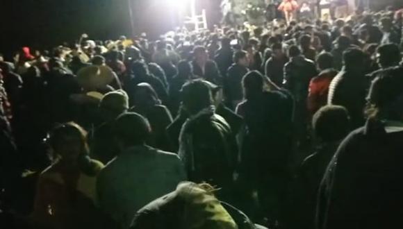 El evento se organizó en el caserío de Tayanga. Piden denunciar a los promotores que expusieron a pobladores a la COVID-19.