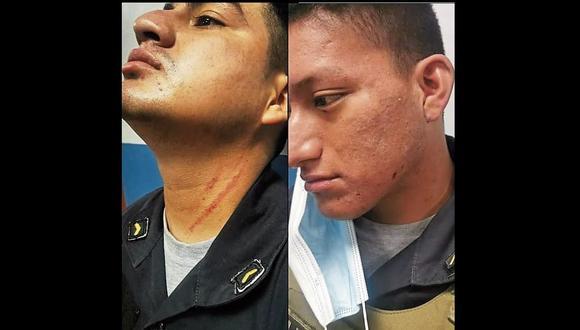 Dos de los agresores, entre ellos un menor de edad, fueron intervenidos y trasladados a la comisaría de Piura.