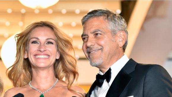 """George Clooney y Julia Roberts volverán a reunirse en """"Ticket to Paradise"""". (Foto: AFP)"""