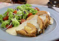 Pollo cordon blue horneado, la receta con menos grasa y más sabor (VIDEO)