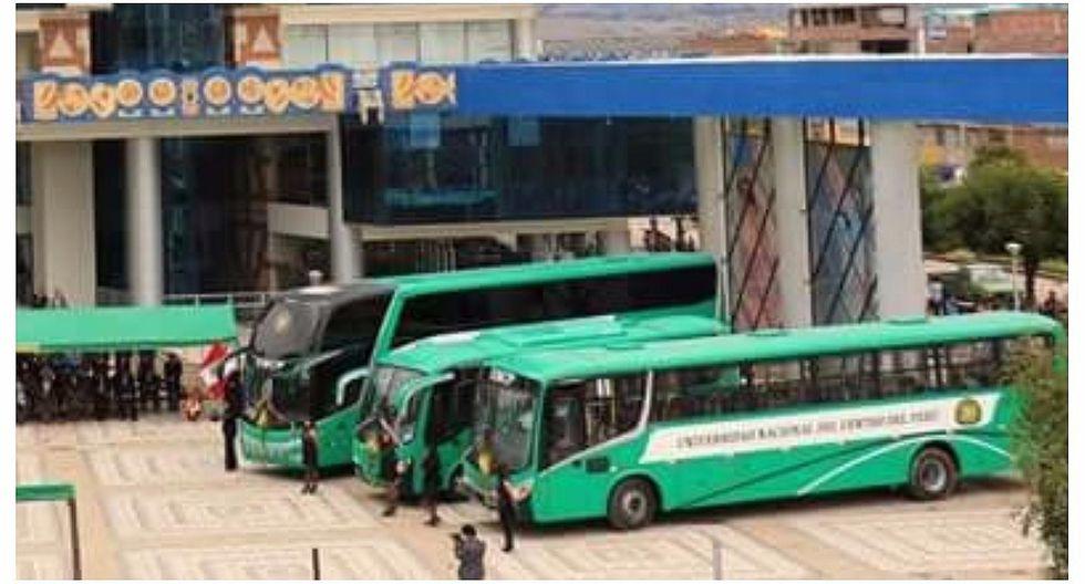 Universidad Nacional del Centro del Perú ya cuenta con flota de 10 buses
