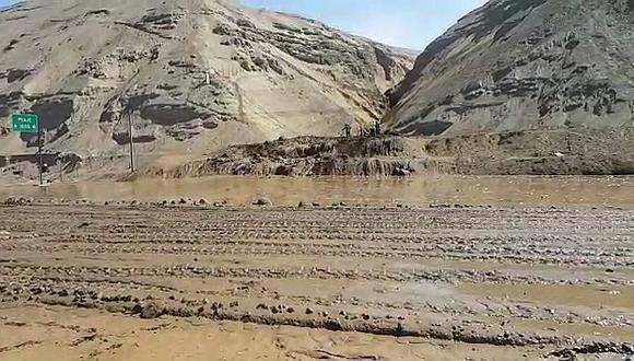 Chincha: huaico bloquea la Panamericana sur (VIDEO)