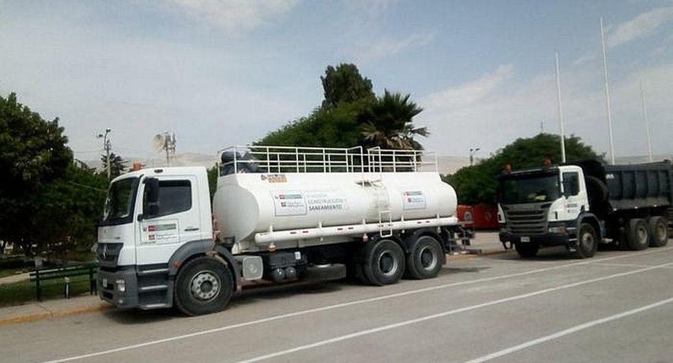 Dotación de agua es restringida en los distritos afectados por sismo