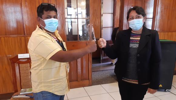 Representantes de Fuerza Popular y Perú Libre acudieron al llamado de las autoridades a respetar el orden público. (Foto: Correo)