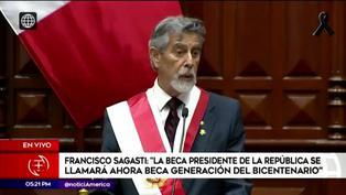 Francisco Sagasti anunció que la Beca Presidente de la República se llamará Beca Generación del Bicentenario