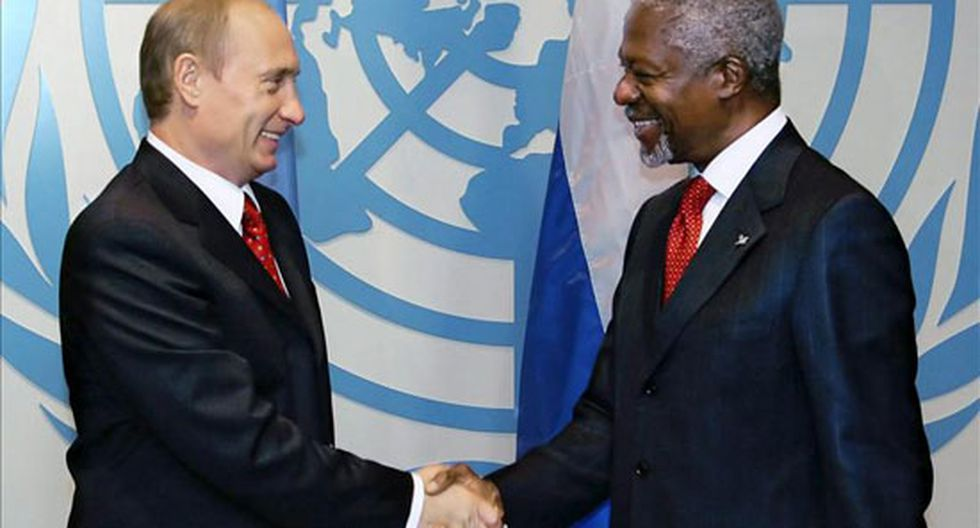 Putin y Annan se reunen para analizar problemática de Siria
