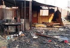 Incendio por cortocircuito deja en la calle a dos familias en el cono sur