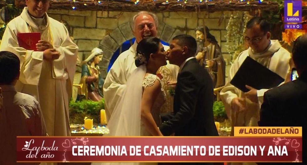 El beso de Ana Siucho y Edison Flores