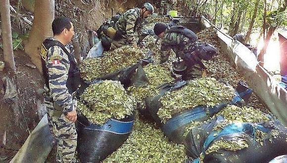 Cusco: Policía inmoviliza más de una tonelada de hojas de coca