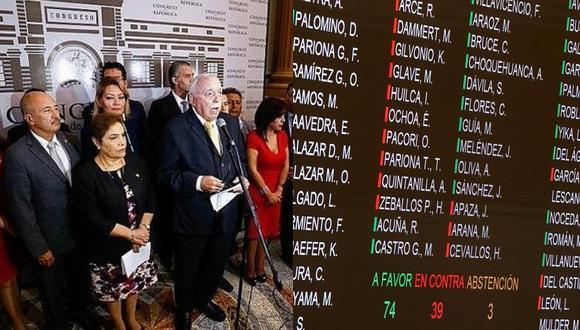 Fujimorismo dividido: Estos congresistas votaron en contra de la cuestión de confianza