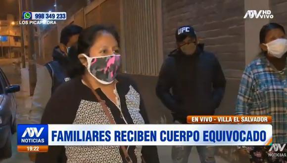 Además, uno de los familiares comentó al citado medio que el nosocomio les informó que Marcelino Apaza había sido incinerado sin autorización de ellos y que sus cenizas estaban en Chorrillos. (Foto Captura ATV)