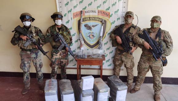 drogaPNP incauta  en Codo de Pozuzo/ Foto: Difusión
