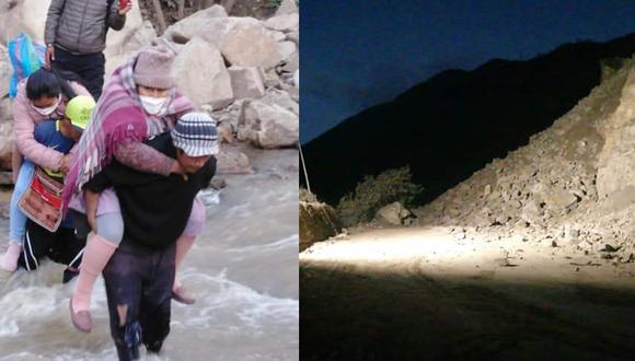 Cargan a mujeres para cruzar río Higueras/ Foto: Cortesía